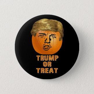 Lustiger Kürbis Trumpf-Halloweens Trumpkin Runder Button 5,1 Cm