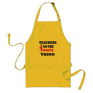 Lustiger Lehrer tun die schreibensache Schürze