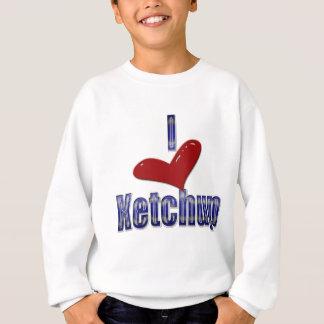 Lustiger LOL Entwurf Liebe I Ketschup- Sweatshirt