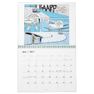 Lustiger Luftfahrt-Cartoon-Kalender Wandkalender