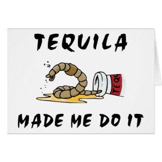 Lustiger mexikanischer Tequila Karte