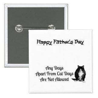 Lustiger mürrischer Katzen-Vatertags-Button-Knopf Quadratischer Button 5,1 Cm