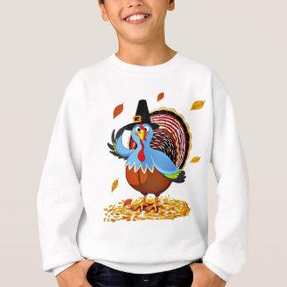Lustiger niedlicher Erntedank die Türkei in einem Sweatshirt