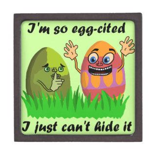 Lustiger niedlicher Osterei-Cartoon Kiste