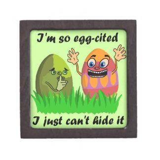 Lustiger niedlicher Osterei-Cartoon Schmuckkiste
