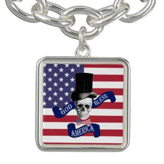 Lustiger patriotischer Amerikaner Armbänder