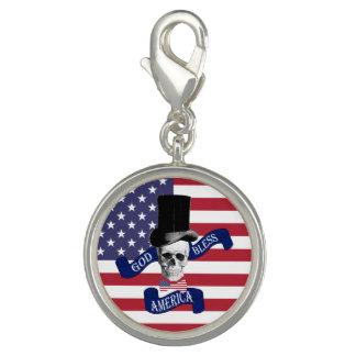 Lustiger patriotischer Amerikaner Foto Charm