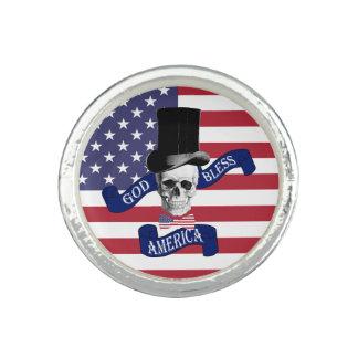 Lustiger patriotischer Amerikaner Ringe