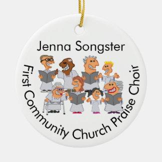 Lustiger personalisierter Kirchen-Chor Rundes Keramik Ornament