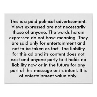 Lustiger politischer Anzeigen-Wahl-Spaß Poster