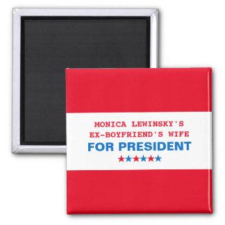 Lustiger politischer Spaß-Magnet 2016 Hillary Quadratischer Magnet