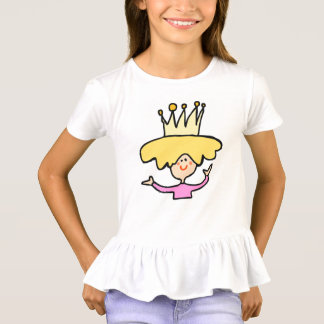 lustiger Prinzessinkindertier-Cartoon T-Shirt