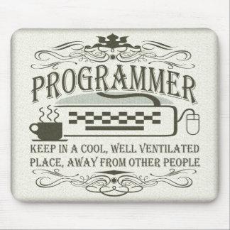 Lustiger Programmierer Mauspads