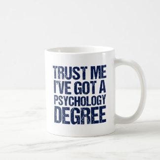 Lustiger Psychologie-Abschluss Kaffeetasse