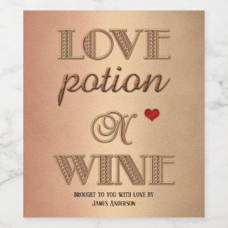 Lustiger Retro Valentinstag-Wein-Aufkleber Weinetikett