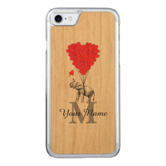 Lustiger romantischer Elefant Carved iPhone 7 Hülle