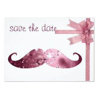 Lustiger rosa Bling Schnurrbart 12,7 X 17,8 Cm Einladungskarte