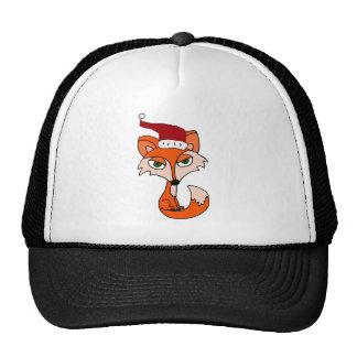 Lustiger roter Fox in der Weihnachtsmannmütze Baseballkappen
