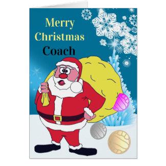 Lustiger Sanktnetball-Zug-Weihnachtsgruß Karte