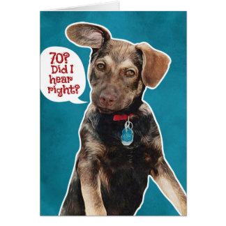 Lustiger Schäferhund-Welpen-70. Geburtstags-Karte Karte
