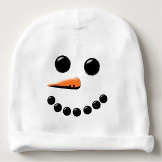 Lustiger Schneemann-Gesichts-Feiertags-Baby-Hut Babymütze