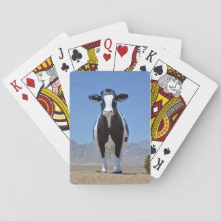 Lustiger Schwarz-weißer Pokerkarten