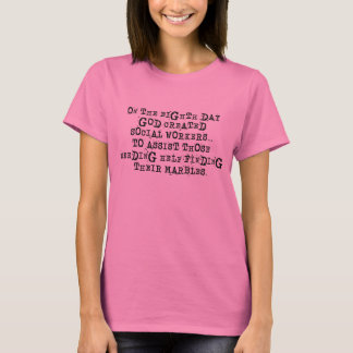 Lustiger Sozialarbeiter-T - Shirt-Gott hergestellt T-Shirt