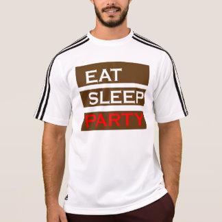 Lustiger Spaß der PARTY-Text-Klugheit essen Schlaf T-Shirt