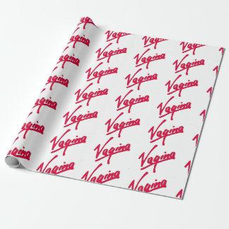 Lustiger Spaß der Weihnachtsfrechen Vagina Einpackpapier