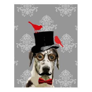 Lustiger steampunk Hund Postkarte