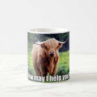 Lustiger Stier, wie ich kann, helfen Ihnen Kaffeetasse
