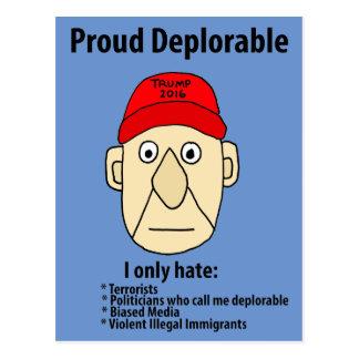Lustiger stolzer verurteilungswürdiger politischer postkarten