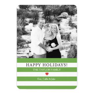 Lustiger Streifen-Foto-Weihnachtsgruß 12,7 X 17,8 Cm Einladungskarte