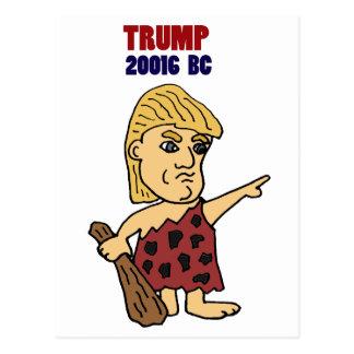 Lustiger Trumpf als Höhlenbewohner-politischer Postkarten