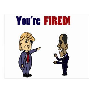 Lustiger Trumpf, der politischen Cartoon Obama Postkarte