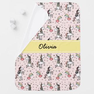 Lustiger Unicorn-personalisierte Decke