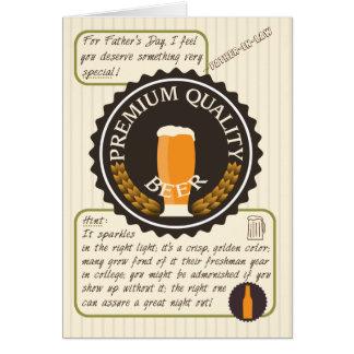Lustiger Vatertags-Retro Bier-Aufkleber für Vati Grußkarte