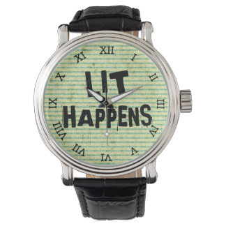 Lustiger Verfasser-Leser-Lit geschieht Armbanduhr