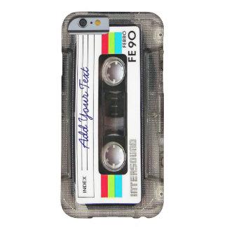 Lustiger Vintager 80er Retro Musik-Kassetten-Band Barely There iPhone 6 Hülle