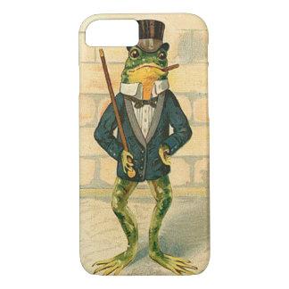 Lustiger Vintager Frosch iPhone 7 Hülle