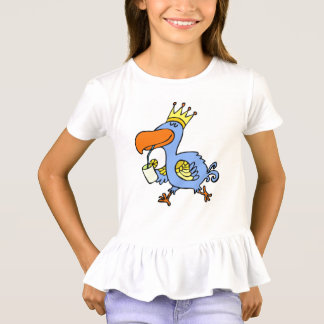 lustiger Vogelkindertier-Cartoon T-Shirt