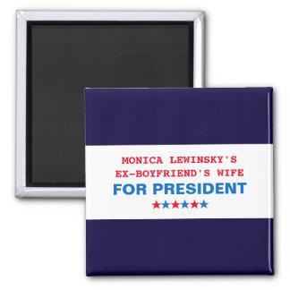 Lustiger Wahl-Kühlschrankmagnet 2016 Hillary Quadratischer Magnet