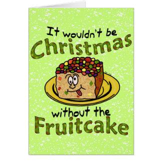 Lustiger WeihnachtsCartoon-Fruchtkuchen Karte