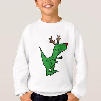 Lustiger Weihnachtsdinosaurier als Ren Sweatshirt