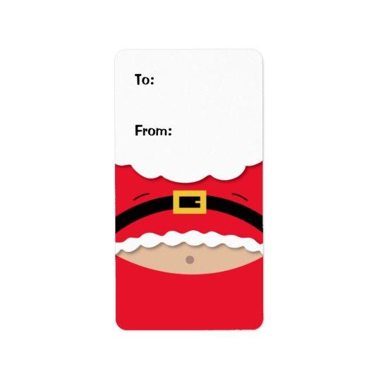 Lustiger Weihnachtsgeschenk-Umbau-Aufkleber Adressaufkleber