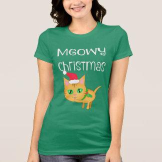 Lustiger Weihnachtskitty-Katzen-Liebhaber-T - T-Shirt
