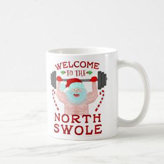 Lustiger Weihnachtsweihnachtsmann Swole Kaffeetasse