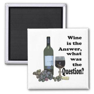 Lustiger Wein-Sprichwort Magnet