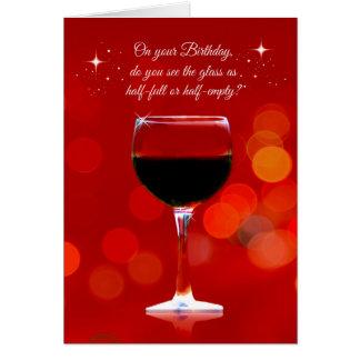 Lustiger Wein-themenorientierte Geburtstags-Karte Karte