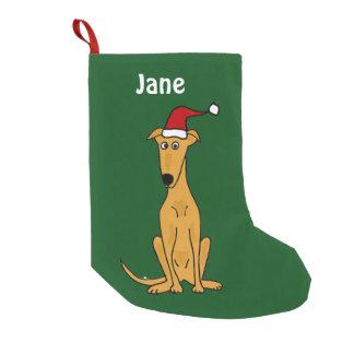 Lustiger Windhund im Kleiner Weihnachtsstrumpf
